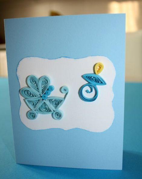 Biglietti Auguri Matrimonio Quilling : Biglietti auguri nascita bimbo con decorazioni in quilling
