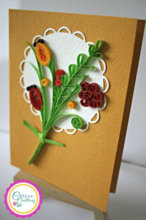 Biglietti Auguri Matrimonio Quilling : Biglietti d auguri con decorazioni in quilling per ogni