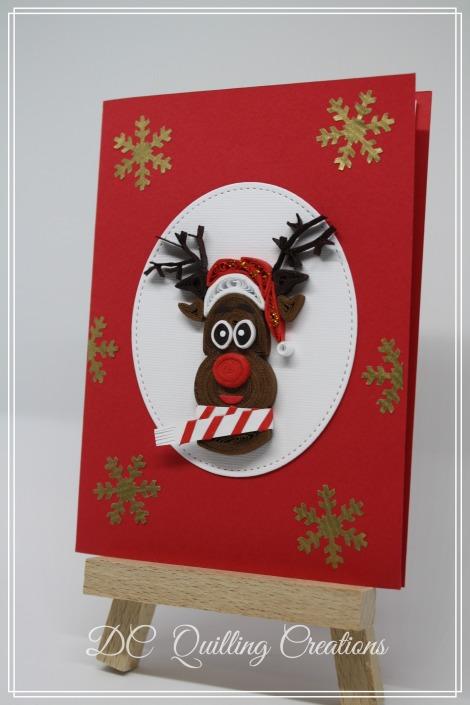 Biglietti Di Natale Di Carta.Biglietto Di Natale Con Rudolph La Renna Di Babbo Natale In