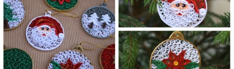 Decorazioni Natalizie Quilling.Quilling Natale Creazioni Artistiche In Filigrana Di Carta