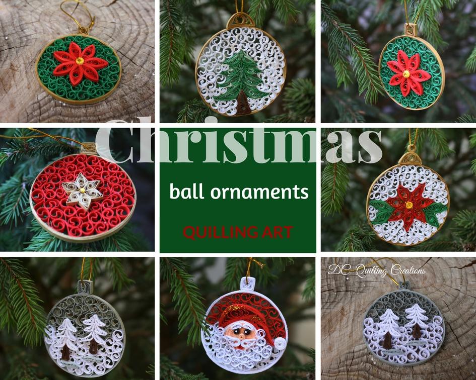 Addobbi albero di Natale fatti a mano in quilling