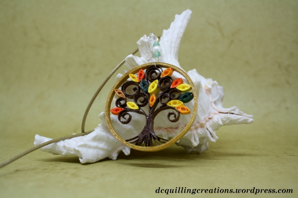 pendente albero della vita bijoux in quilling