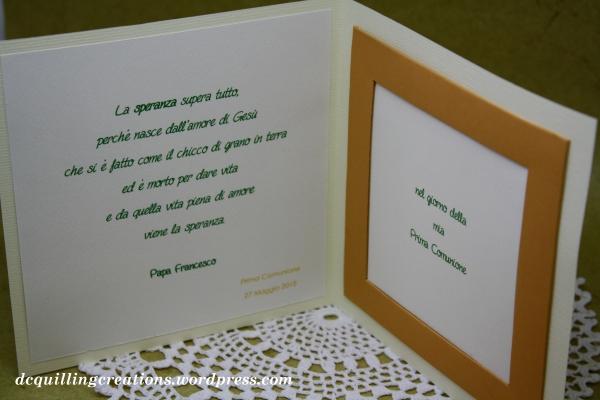 card portafoto comunione bambino