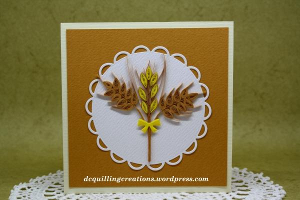 card portafoto spighe di grano quilling