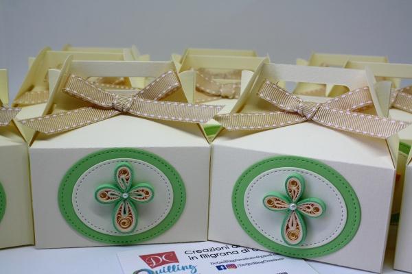 scatoline portaconfetti comunione croce calamita