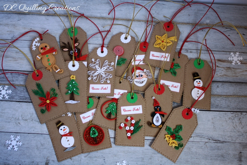 chiudipacco natale in quilling