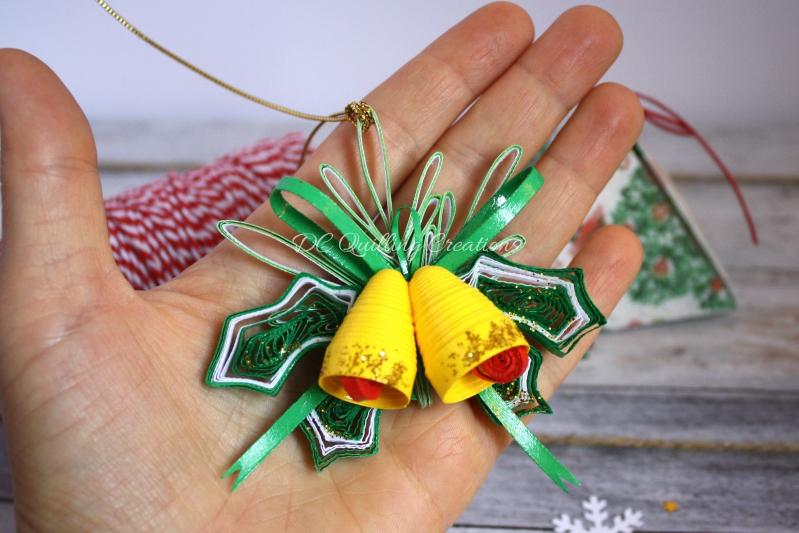addobbi natalizi fai da te campanelli  3d quilling