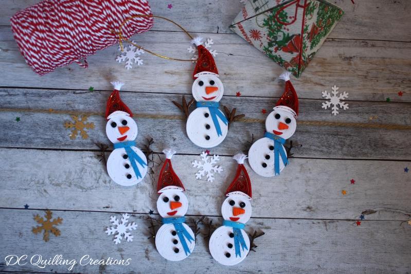 addobbi natalizi fai da te pupazzi di neve