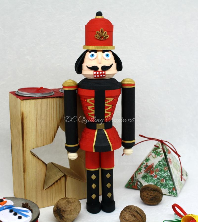 soldatino schiaccianoci Natale 3d fatto a mano oggetto da collezione