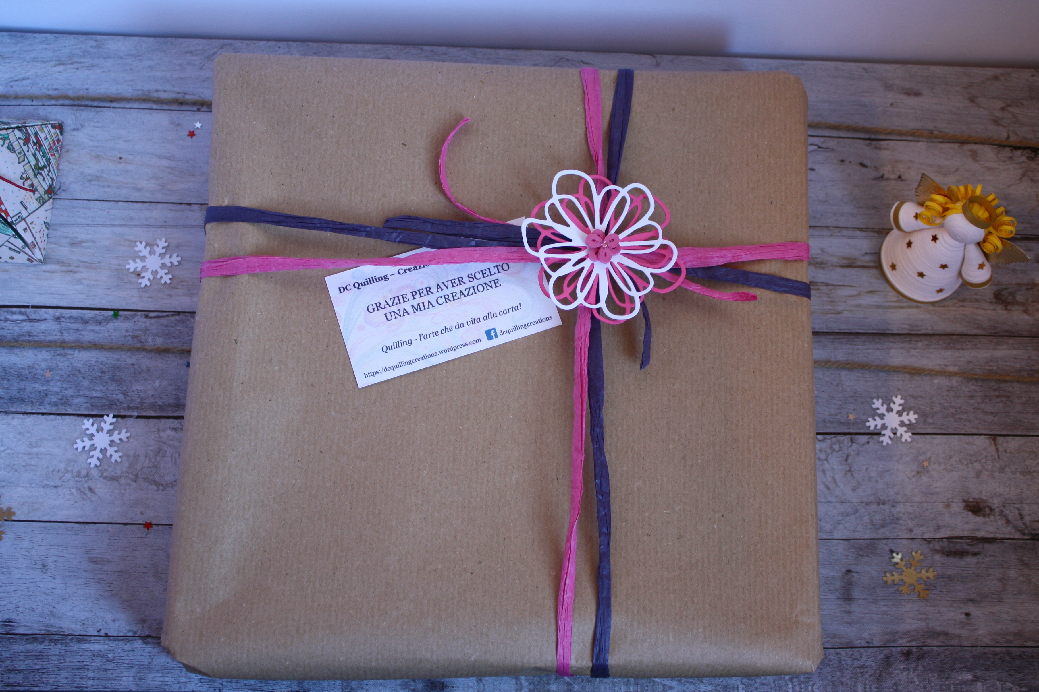 pacco regalo nascita bimba cornice portafoto